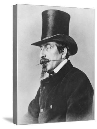 Portrait of Emperor Napoleon III-Nadar-Stretched Canvas Print