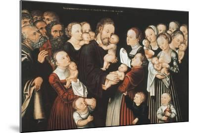 Jesus and the Children, Early C16th-Lucas Cranach the Elder-Mounted Giclee Print