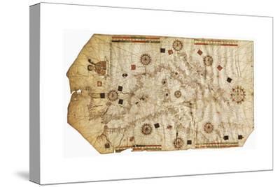 Portulario Del Mediterraneo, 1538-Bartolomeo Olives-Stretched Canvas Print