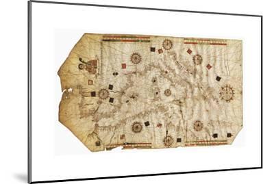 Portulario Del Mediterraneo, 1538-Bartolomeo Olives-Mounted Giclee Print