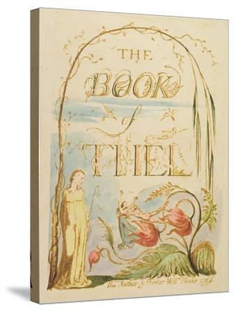 The Book of Thel, Plate 2 (Title Page), 1789-William Blake-Stretched Canvas Print