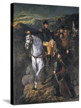 General San Martin after Crossing the Andes in 1817, 1865-Martin Boneo-Stretched Canvas Print