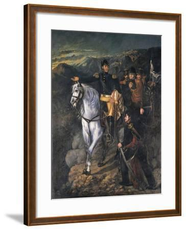 General San Martin after Crossing the Andes in 1817, 1865-Martin Boneo-Framed Giclee Print