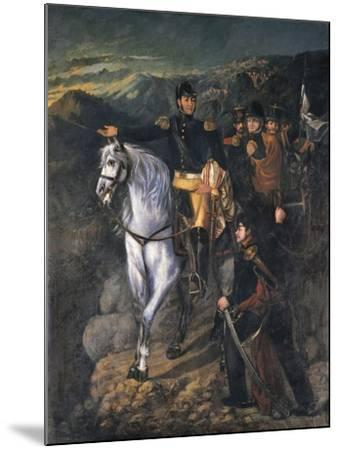 General San Martin after Crossing the Andes in 1817, 1865-Martin Boneo-Mounted Giclee Print