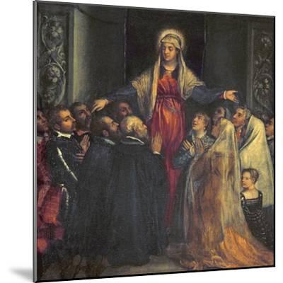 Madonna Della Misericordia-Titian (Tiziano Vecelli)-Mounted Giclee Print