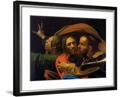 The Taking of Christ (Detail)-Caravaggio-Framed Giclee Print