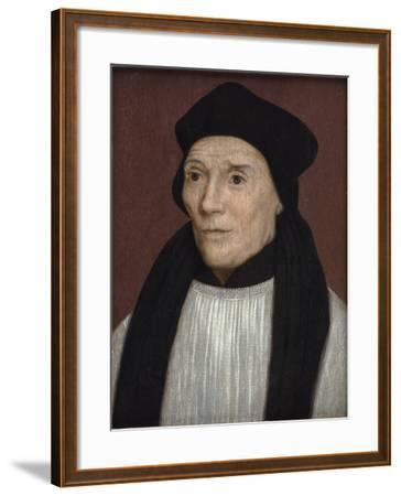 Portrait of John Fisher, Bishop of Rochester, Mid-16th Century-Hans Holbein the Younger-Framed Giclee Print