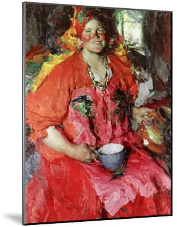 The Girl with a Jug-Abram Efimovich Arkhipov-Mounted Giclee Print