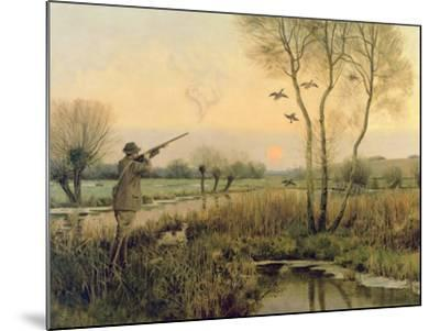Duck Shooting-Christopher William Strange-Mounted Giclee Print