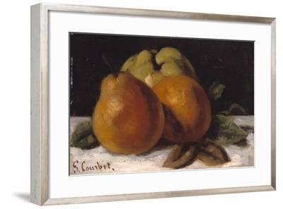 Apple, Pear and Orange, C.1871-72-Gustave Courbet-Framed Giclee Print