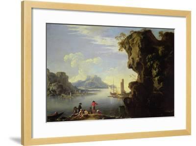 Coastal Scene with Fishermen-Salvator Rosa-Framed Giclee Print