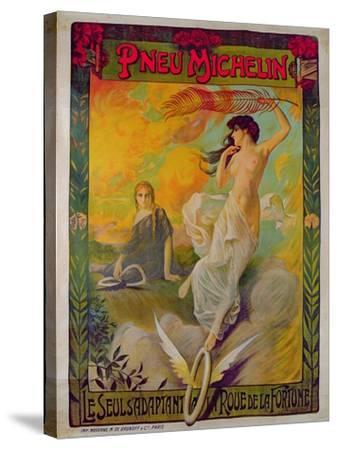 Poster Advertising for Michelin 'Pneu Michelin, Le Seul S'Adaptant a La Roue De La Fortune'--Stretched Canvas Print