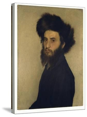 Portrait of a Young Jewish Man-Isidor Kaufmann-Stretched Canvas Print