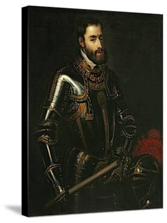 Portrait of Emperor Charles V, after a Painting by Titian, C.1603-Titian (Tiziano Vecelli)-Stretched Canvas Print