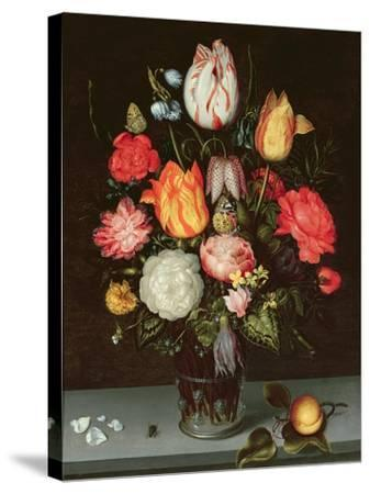 Still Life with Fruit and Flowers-Ambrosius The Elder Bosschaert-Stretched Canvas Print