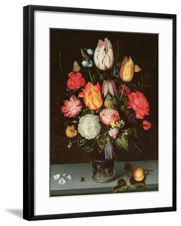 Still Life with Fruit and Flowers-Ambrosius The Elder Bosschaert-Framed Giclee Print