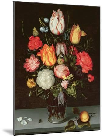 Still Life with Fruit and Flowers-Ambrosius The Elder Bosschaert-Mounted Giclee Print