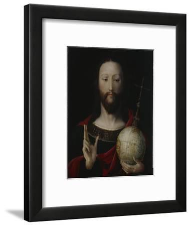 Christ with Globe - 'salvator Mundi', Lower Rhine, 1537-45-German School-Framed Giclee Print