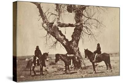 Burial, Dakota, 1868-Alexander Gardner-Stretched Canvas Print