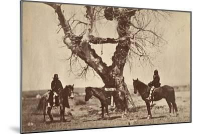 Burial, Dakota, 1868-Alexander Gardner-Mounted Giclee Print