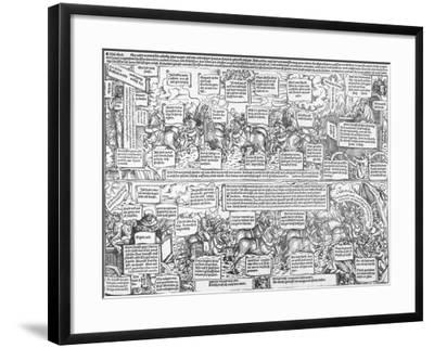 Reformatorical Pamphlet - the Divine and Infernal Carriage of Andreas Karlstadt, C.1519-1600-Lucas Cranach the Elder-Framed Giclee Print