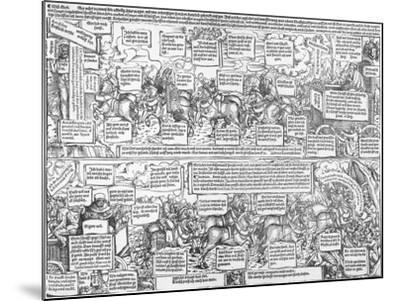 Reformatorical Pamphlet - the Divine and Infernal Carriage of Andreas Karlstadt, C.1519-1600-Lucas Cranach the Elder-Mounted Giclee Print