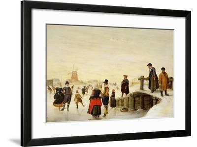 Figures Skating in a Dutch Landscape, C.1625-Hendrik Avercamp-Framed Giclee Print