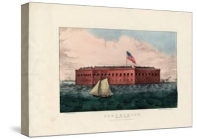Fort Sumter: Charleston Harbor, S.C., Pub. by Currier and Ives, C.1861-Charles Parsons-Stretched Canvas Print
