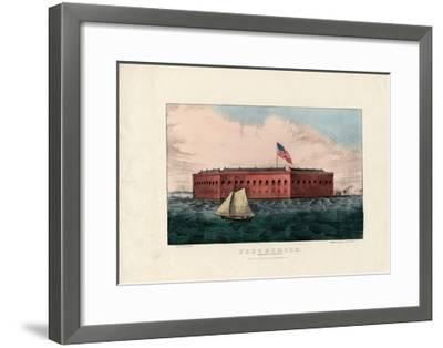 Fort Sumter: Charleston Harbor, S.C., Pub. by Currier and Ives, C.1861-Charles Parsons-Framed Giclee Print