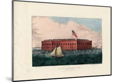 Fort Sumter: Charleston Harbor, S.C., Pub. by Currier and Ives, C.1861-Charles Parsons-Mounted Giclee Print