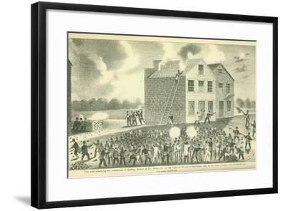 The Martyrdom of Lovejoy, Published by Fergus Print Co., 1881-Henry Tanner-Framed Giclee Print