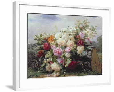 Still Life with Flowers-Jean Baptiste Claude Robie-Framed Giclee Print