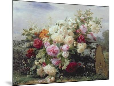 Still Life with Flowers-Jean Baptiste Claude Robie-Mounted Giclee Print