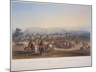 Encampment of the Piekann Indians, Engraved by Beyer and Hurliman, Published in 1839-Karl Bodmer-Mounted Giclee Print