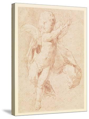 A Flying Putto-Edme Bouchardon-Stretched Canvas Print