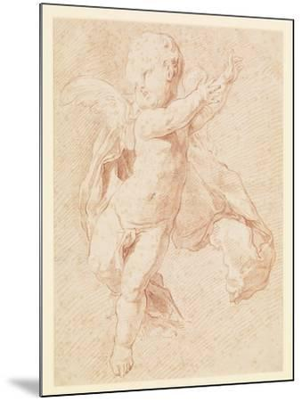 A Flying Putto-Edme Bouchardon-Mounted Giclee Print