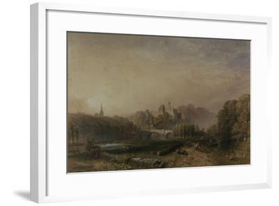 View of Lismore Castle During the 6th Duke of Devonshire's Alterations-Samuel Cook-Framed Giclee Print