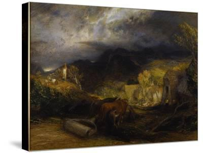 Morning-Samuel Palmer-Stretched Canvas Print