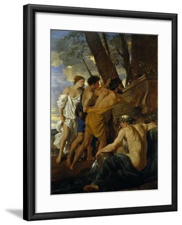 The Arcadian Shepherds-Nicolas Poussin-Framed Giclee Print