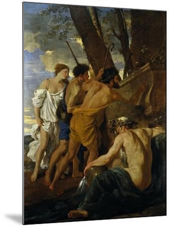 The Arcadian Shepherds-Nicolas Poussin-Mounted Giclee Print