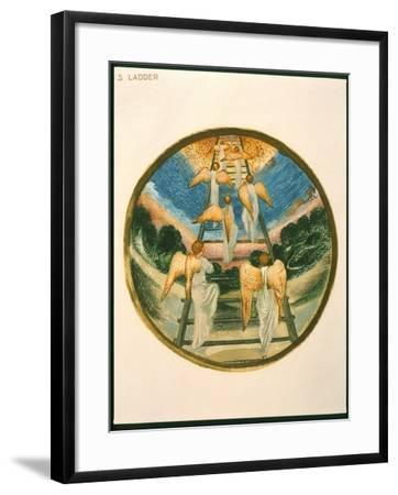 Jacob's Ladder, Angels Returning Tp Heaven, Plate 111 from 'The Flower Book'-Edward Burne-Jones-Framed Giclee Print