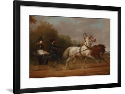 Tsar Alexander I Driving a Droschki-Alexander Ivanovich Sauerweid-Framed Giclee Print