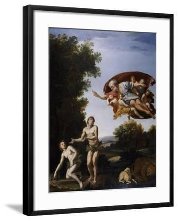 The Expulsion of Adam and Eve-Domenichino-Framed Giclee Print