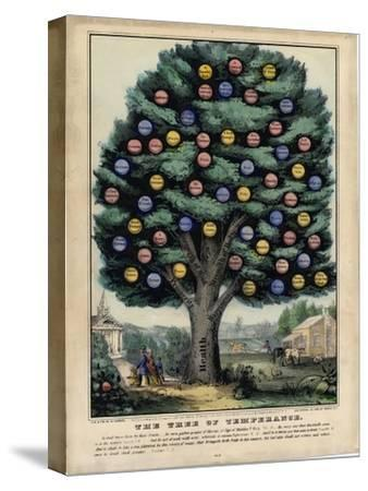 The Tree of Temperance, Published by N. Currier, New York, 1849-Currier & Ives-Stretched Canvas Print