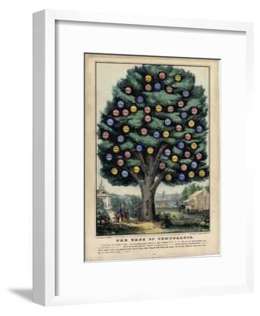 The Tree of Temperance, Published by N. Currier, New York, 1849-Currier & Ives-Framed Giclee Print