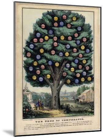 The Tree of Temperance, Published by N. Currier, New York, 1849-Currier & Ives-Mounted Giclee Print
