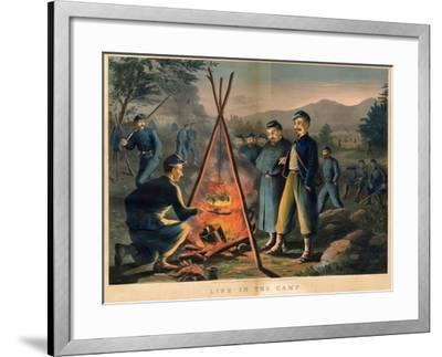 Life in the Camp, Published by Currier and Ives, 1863-Thomas Nast-Framed Giclee Print