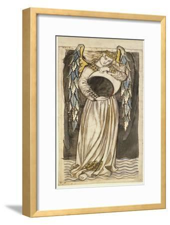 An Angel Holding a Waning Moon-William Morris-Framed Premium Giclee Print