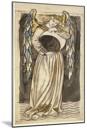 An Angel Holding a Waning Moon-William Morris-Mounted Premium Giclee Print