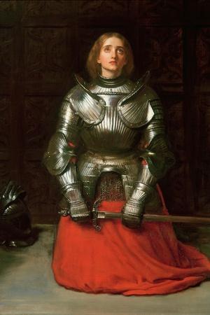 Joan of Arc, 1865-John Everett Millais-Stretched Canvas Print